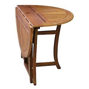 Drop Leaf Patio Table Drop Leaf Table Kitchen Outdoor Wood Dining Folding Deck Patio Furniture Ebay