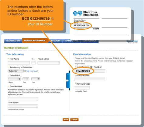 register for blue access for members blue cross and blue