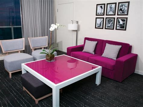 Sofa Warna Pink chic pink and periwinkle living room room decor and design
