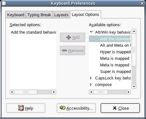 keyboard layout options suse linux enterprise desktop sled 10 gnome user guide