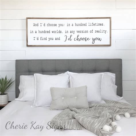 Bedroom Signs by Bedroom Decor I D Choose You Wood Sign Farmhouse