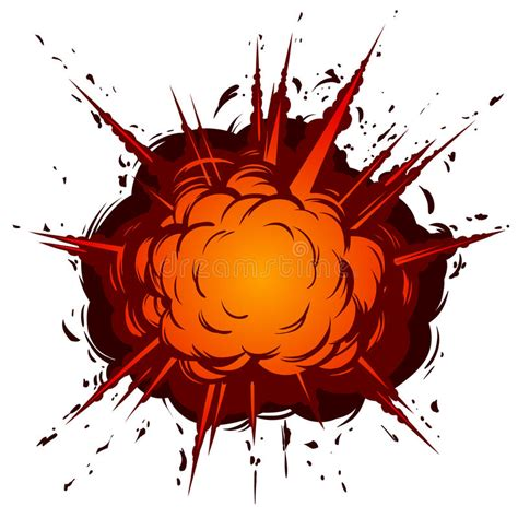 Cartoon Explosion Stock Vector - Image: 53542130 Explosion White Background