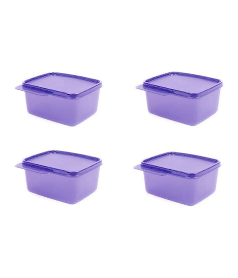 Tupperware Purple Tupperware Purple Plastic Containers Set Of 4 Buy At Best Price In India Snapdeal