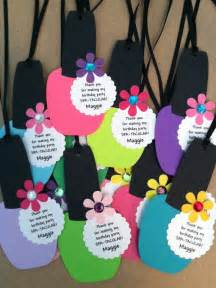 Spa Favor Ideas by Spa Favor Tags Nail Favor Tags By