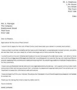 pest control cover letter example cover letters and cv