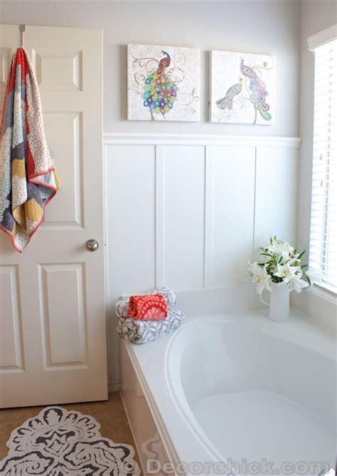 board and batten bathroom remodelaholic chic budget bathroom makeover for under 100