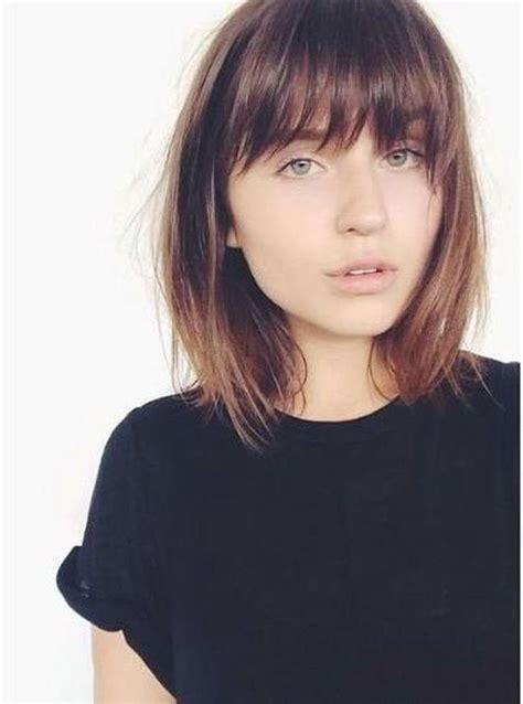 hairstyle ideas with a fringe 20 best collection of full fringe long hairstyles
