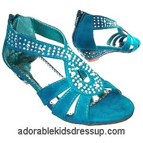 adorable kids dress up kids high heels shoes girls tea little girls turquoise blue high heel shoes girls
