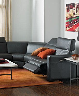 Leather Power Reclining Living Room Sets Nicolo Leather Sectional Living Room Furniture Sets