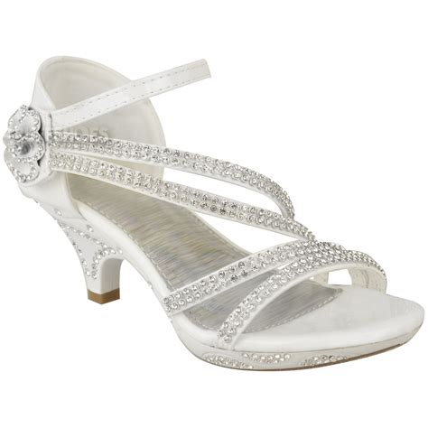Wedding Heels For by New Low Heel Wedding Diamante Sandals