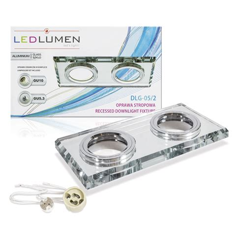 1 Set Lu Downlight sellon 24 onlineshop led glas doppel einbauspot