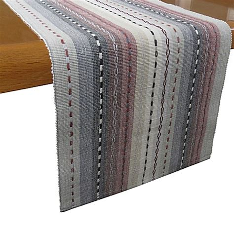 bed bath and beyond table runners buy desert trails 72 inch table runner in granite from bed bath beyond