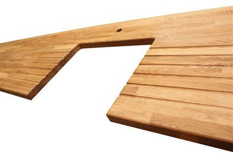 wooden drainer for belfast sink prime oak worktop gallery