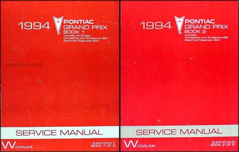 1997 pontiac grand prix repair shop manual original 2 volume set 1994 pontiac grand prix repair shop manual original set