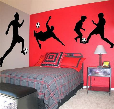 soccer bedroom ideas soccer bedrooms soccer wall murals for boys bedroom