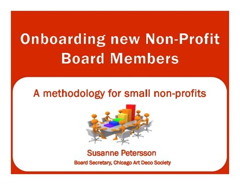 Non Profit With Mba by Onboard Non Profit Board Of Directors Susanne Petersson
