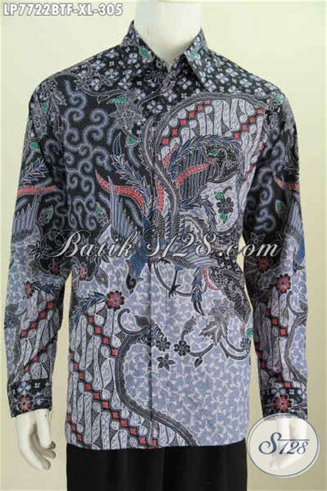 Pakaian Hem Resmi Pria Maroon Xl Kemeja Pria Katun Stretch jual kemeja batik klasik lengan panjang pas untuk acara resmi pakaian batik berkelas