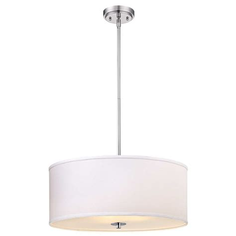 white drum pendant light large modern chrome drum pendant light with white shade
