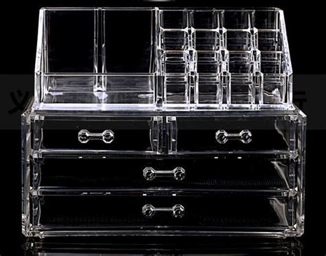 Acrylic Makeup Organizer Big Box 2 Drawer Akd405 cosmetic cases clear acrylic cosmetic display makeup