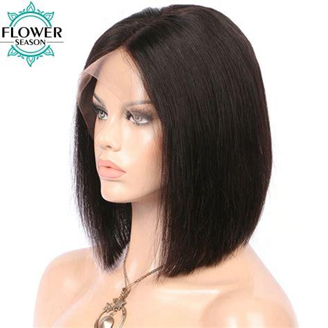 hair wigs flowerseason 130 short cut bob wig 13x6 lace front human