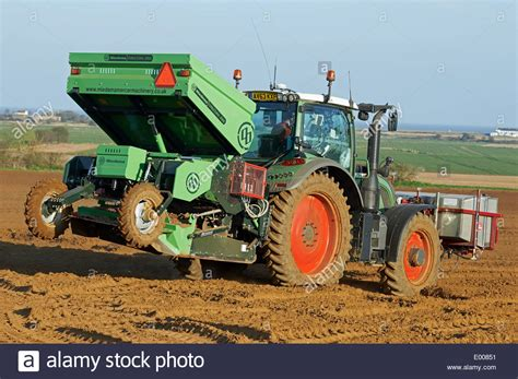 Structural Potato Planter by Miedema Structural 2000 Potato Planter Stock Photo