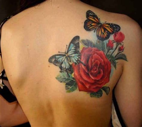 butterfly tattoo on shoulder blade tattoo butterflies with roses shoulder blade http