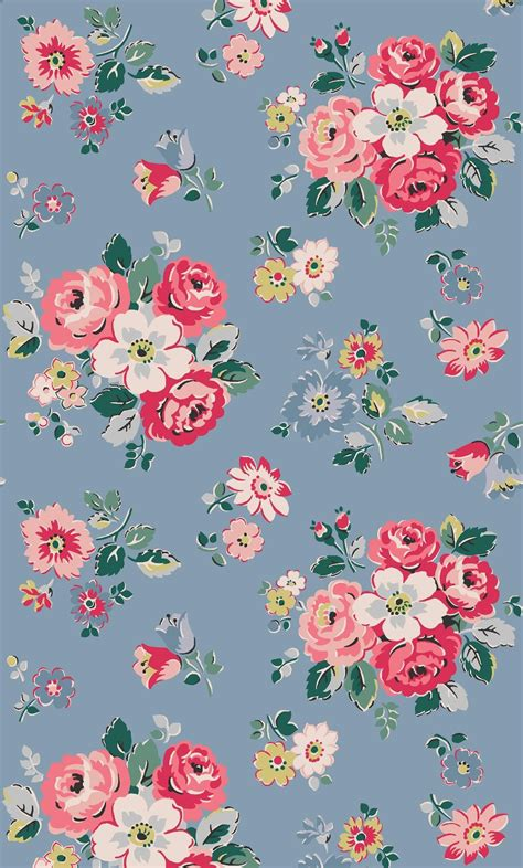wallpaper cath kidston pink forest bunch we ve given these pretty rosy bunches a