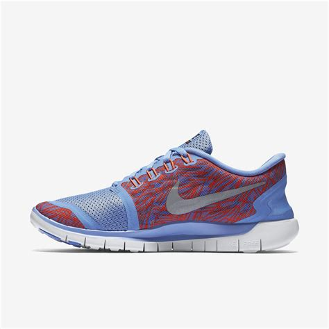 womens nike free 5 0 print running shoes nike womens free 5 0 print running shoes chalk blue