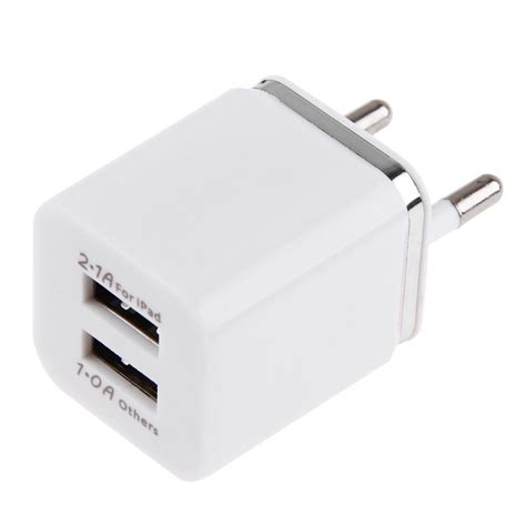 Charger Samsung Dual Usb 2 1a 2 1a 1a dual 2 port usb wall adapter charger eu for