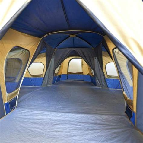room tent ozark trail base c 14 person 3 room cabin outdoor cing family shelter tent ebay