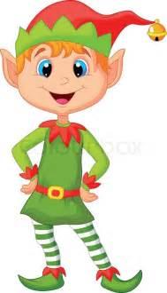 cute cartoon happy christmas elf stock vector colourbox