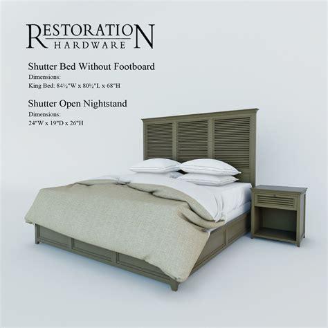 shutter bed shutter bed restoration hardware bed furniture decoration