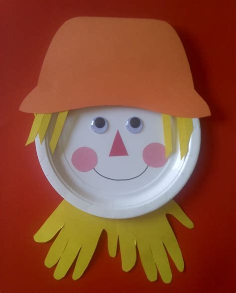 Paper Crafts For Preschoolers - crafts for preschoolers paper plate scarecrow