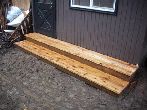 Shed Steps cedar tub deck deck masters llc portland or