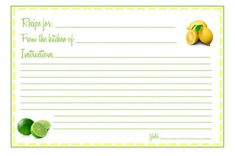 cards 4 x 6 template 8 best images of printable recipe cards 4x6 free