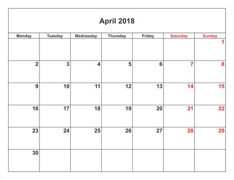 get fuzzy 2018 day to day calendar april 2018 printable calendar printable calendar templates