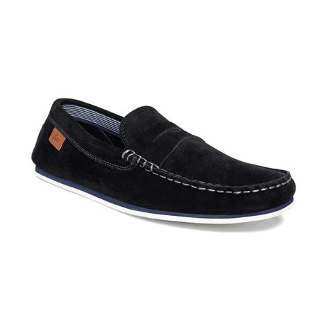 lacoste loafers lacoste chanler loafers in black for lyst