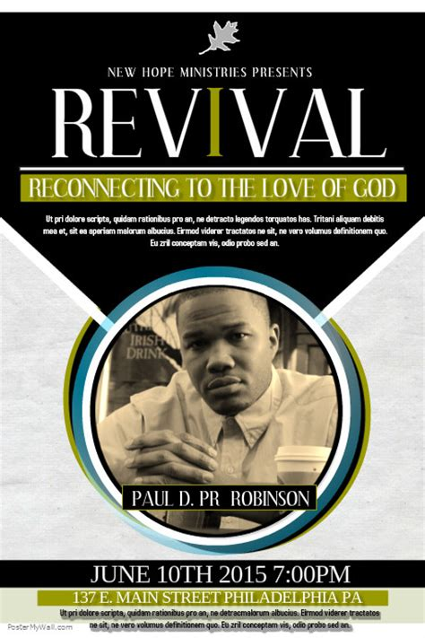 flyer template holy revival church revival flyer template postermywall