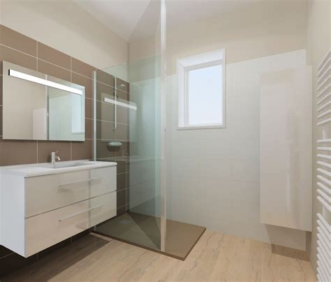 Rénovation salle de bain dans les tons chaleureux à Rennes