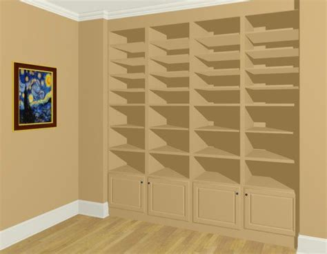 build bookshelves into wall how to create built in wall bookshelves chief architect software help home decor design