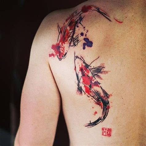 watercolor tattoo koi 50 fish designs and ideas with meaning