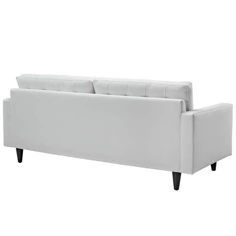 White Bonded Leather Sofa Empress Bonded Leather Sofa In White Sofas Eei 1010 Whi 9