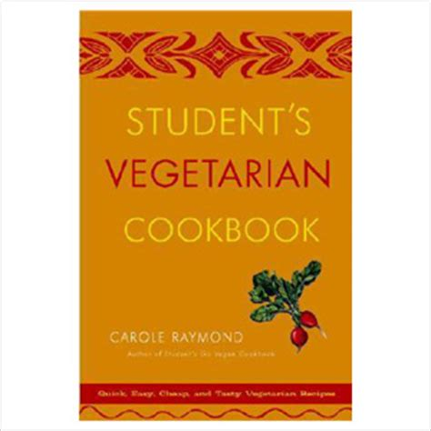 vegetarian student cookbook recipes gifts to give to a vegetarian