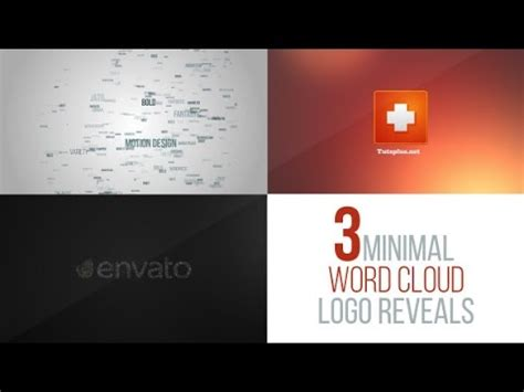 Word Cloud Logo Reveal Pack After Effects Project Youtube Word Cloud After Effects Template