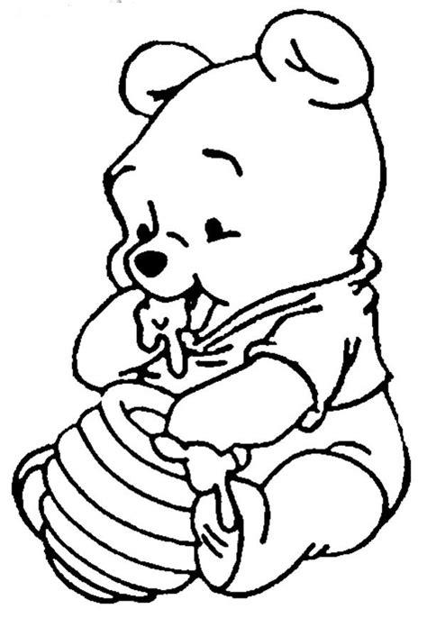 imagenes de winnie pooh solo para colorear dibujos de winnie pooh bebe para colorear