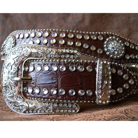 name belts and buckles belt brown croc concho