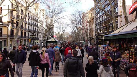 barcelona weather november 2017 barcelona spain april 2017 la rambla barcelona