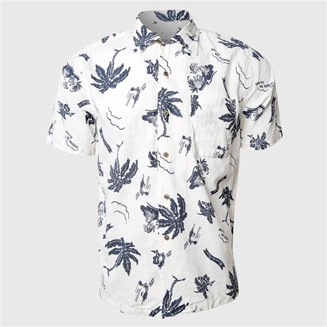 White Tropical Color S M L Top 44421 aliexpress buy tropical hawaiian shirt sleeve shirt white casual clothes