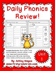 Saxon Phonics And Spelling K Worksheets by Daily Phonics Review Sheets Works With Or Without