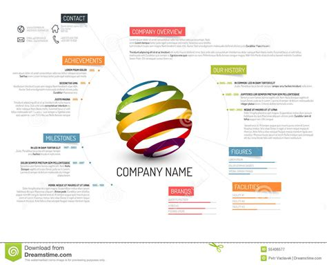 company overview template company overview template stock illustration image 55406577